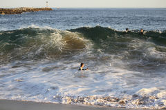 Surfing The Wedge Royalty Free Stock Images