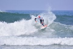 Surfing World Championship World Qualifying Series-WQS. Stock Photos