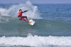 Surfing World Championship World Qualifying Series-WQS. Stock Photo