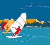Surfingbakgrund Royaltyfria Bilder