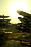 Surfingbrädahyra Royaltyfri Bild