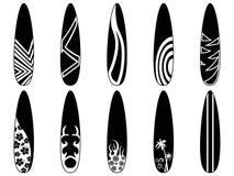 Surfingbrädasymboler Royaltyfria Bilder