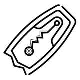 Surfingbrädavektorsymbol vektor illustrationer