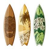 Surfingbrädor med plan design Arkivbild