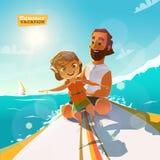 Surfingn deze zomer Geniet van het stock illustratie