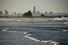 Surfingowów Raju Linia horyzontu, Queensland, Australia Obrazy Royalty Free
