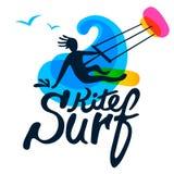 Surfingowa loga szablon Zdjęcia Royalty Free