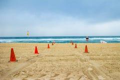 Surfingowa raju plaży złota wybrzeże Australia Zdjęcia Royalty Free