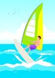 surfingowa wiatr Zdjęcie Royalty Free