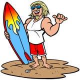 Surfingowiec Joe ilustracja wektor
