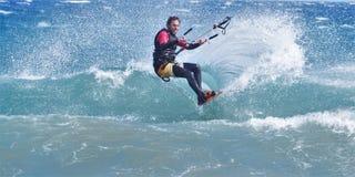 Surfingowiec na fala, Gran Canaria 2015 Zdjęcie Royalty Free