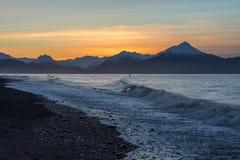 Surfingowiec przy Kachemak zatoką Fotografia Royalty Free