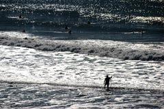 Surfingowiec sylwetki Obraz Royalty Free
