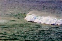 Surfingowiec w tęczy fala Obrazy Royalty Free
