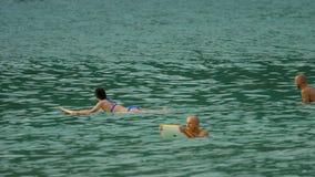 Surfingowowie na fala zdjęcie wideo