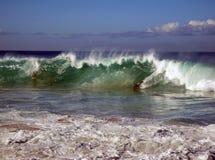 Surfingowowie w Hawaje fotografia stock