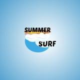 Surfingu loga wektoru ilustracja Fotografia Stock