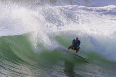 Surfingu surfingowa akcja Zdjęcia Royalty Free
