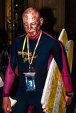 Surfista assustador do zombi imagens de stock