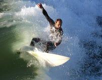 Surfista che tira fuori da una Florida dell'assassino Fotografie Stock Libere da Diritti