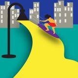Surfista da cidade Fotografia de Stock Royalty Free