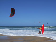 Surfista del cervo volante immagini stock libere da diritti
