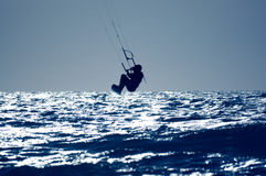 Surfista del cervo volante Fotografia Stock Libera da Diritti