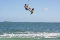Surfista del cervo volante Fotografie Stock