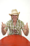 Surfista del cowboy Fotografia Stock