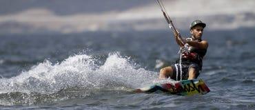 Surfista dell'aquilone Fotografia Stock