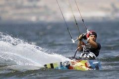 Surfista dell'aquilone Fotografie Stock
