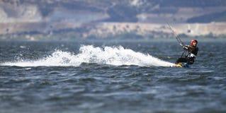 Surfista dell'aquilone Fotografie Stock Libere da Diritti