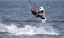 Surfista dell'aquilone Immagini Stock Libere da Diritti