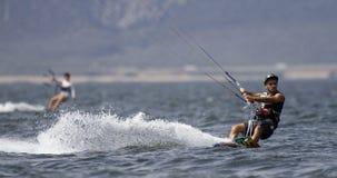 Surfista dell'aquilone Immagini Stock