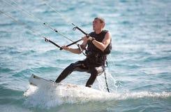 Surfista dell'aquilone Fotografia Stock Libera da Diritti