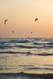 Surfista dell'aquilone Boarding Fotografia Stock Libera da Diritti