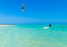 Surfista dell'aquilone della spiaggia di Varadero Fotografia Stock Libera da Diritti