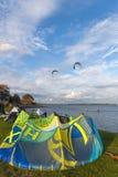 Surfista dell'aquilone in Orth immagini stock