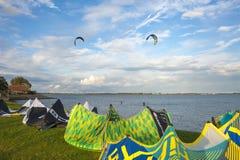 Surfista dell'aquilone in Orth immagini stock libere da diritti