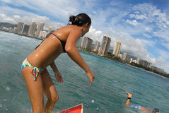 Surfista della ragazza Immagini Stock