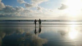Surfista delle coppie Fotografia Stock Libera da Diritti