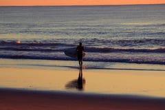 Surfista di mattina Fotografia Stock