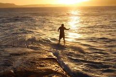 Surfista di pomeriggio Fotografia Stock