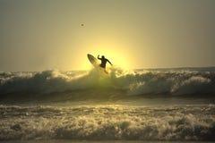 Surfista di tramonto Fotografia Stock Libera da Diritti