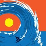 Surfista di Wave Immagini Stock Libere da Diritti