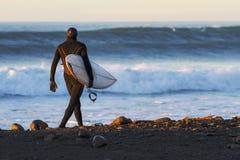 Surfista do inverno Imagens de Stock