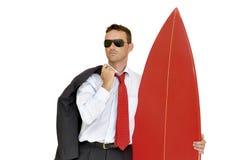 Surfista do negócio Imagem de Stock Royalty Free