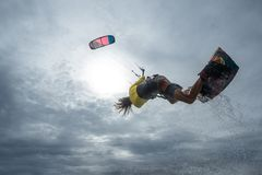 Surfista do papagaio Foto de Stock Royalty Free