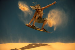 Surfista do papagaio Boarding Fotos de Stock