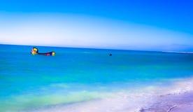 Surfista do vento da praia de Sarasota Foto de Stock